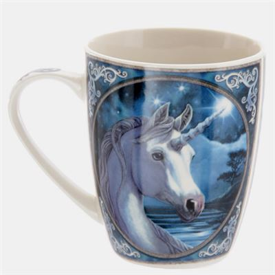 Unicorn Bone China Mug by Lisa Parker